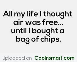 Funny Quote: All my life I thought air was...