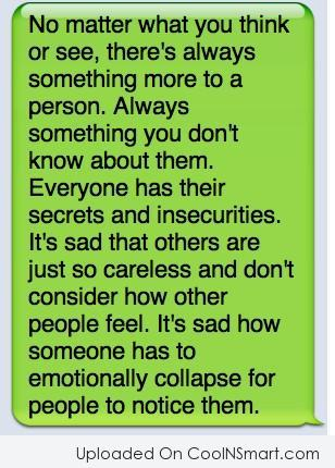 Bullying Quote: There's always something more to a person.