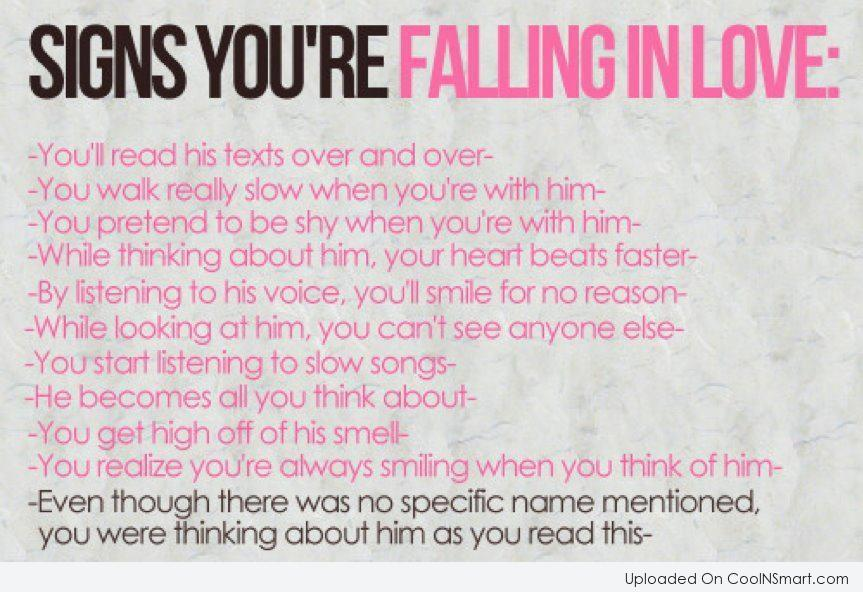 Love Quote: Signs Youu0027re Falling In Loveu2026
