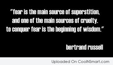 Fear Quote: Fear is t
