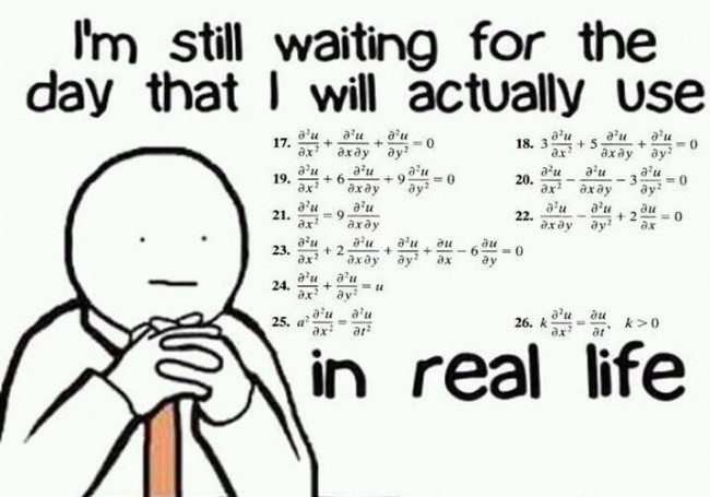 Math Quote: I'm still waiting for that day…