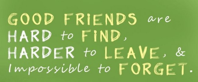 Friendship Quote: Good friends are hard to find, harder...
