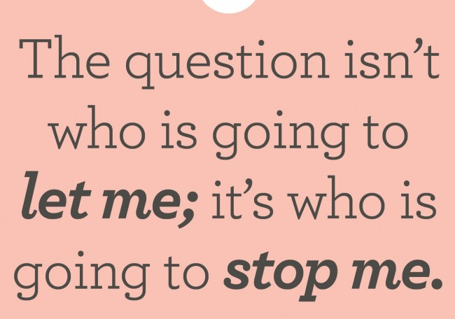 Quote: The question isn't who is going to...