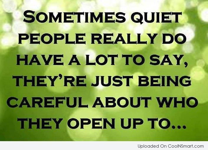 Quotes About Quiet People. QuotesGram