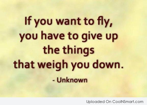 Inspirational Quote: If you want to fly, you have...