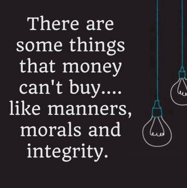 Wise Quote: There are some things that money can't...