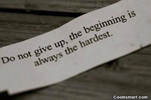 Perseverance Quote: Do not give up, the beginning is...