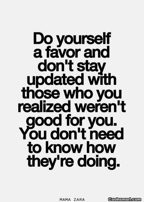 Break Up Quote: Do yourself a favor and don't stay...