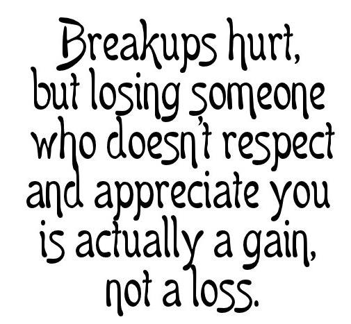 Being Unappreciated Quote: Breakups hurt, but losing someone who doesn't...