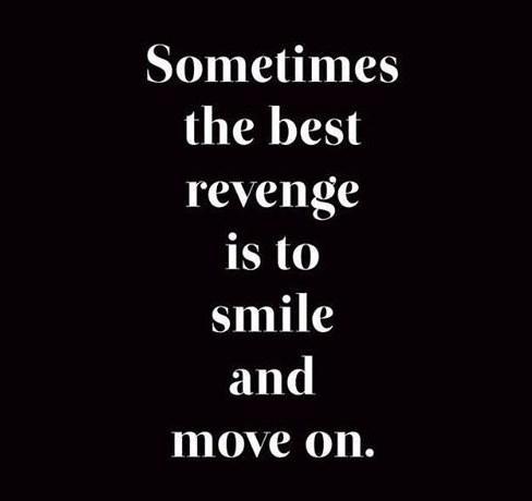 Revenge Quote: Sometimes the best revenge is to smile...