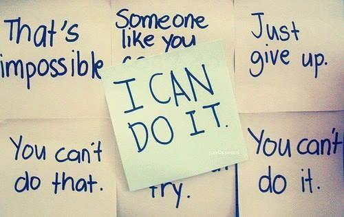 Inspirational Quote: I can do