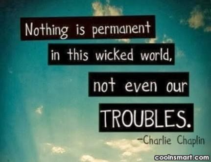 Cheer Up Quote: Nothing is permanent in this wicked world,...