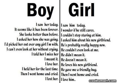 Break Up Quote: A boy and a girl meet after...