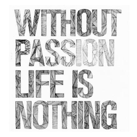 Passion Quote: Without passion life is nothing.