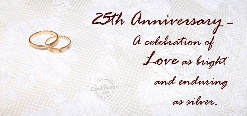 25th Anniversary – A celebration of love...