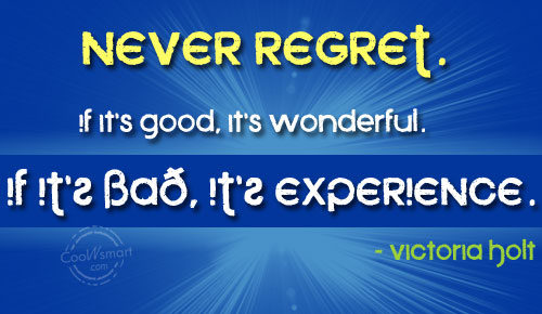 Regret Quotes and Sayings - Images, Pictures - CoolNSmart
