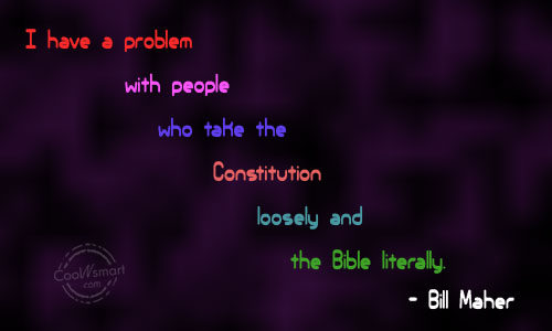 Atheism Quote: I have a problem with people who...
