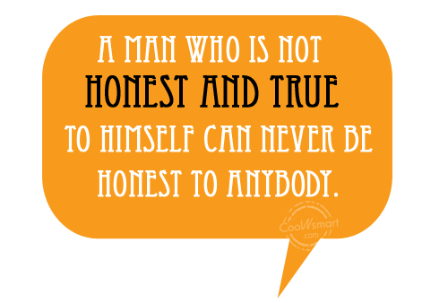 Honesty Quote: A man who is not honest and...