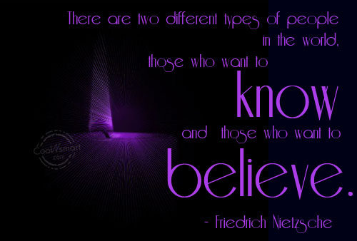 Faith Quote: There are two different types of people...