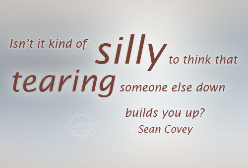 Gossip Quote: Isn't it kind of silly to think...