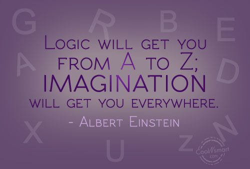 Imagination Quote: Logic will get you from A to...