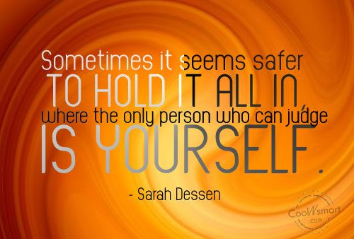 Quote: Sometimes it seems safer to hold it...