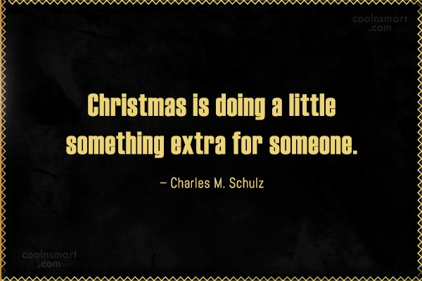 Quote: Christmas is doing a little something extra...