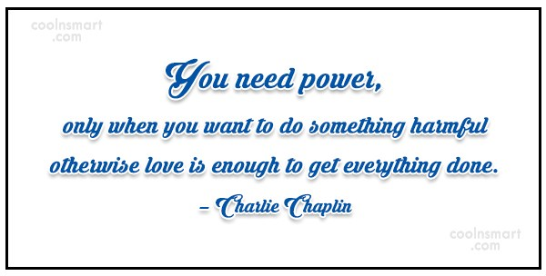 Quote: You need power, only when you want...