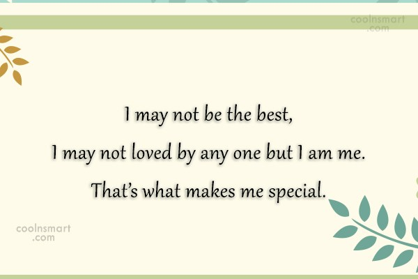Attitude Quote: I may not be the best, I...