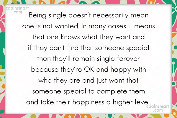 Being Single Quotes and Sayings - Images, Pictures - CoolNSmart