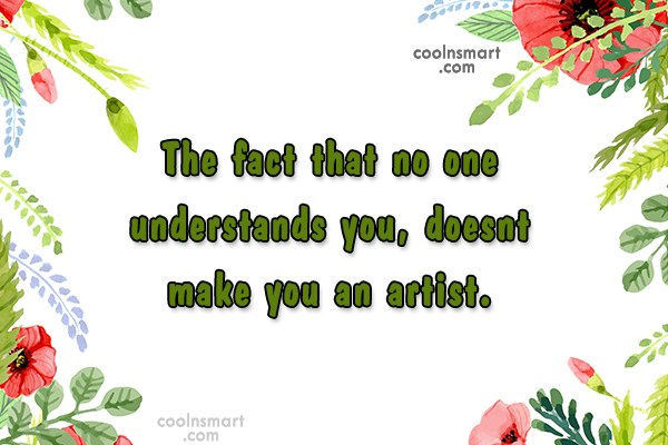 T-Shirt Quote: The fact that no one understands you,...