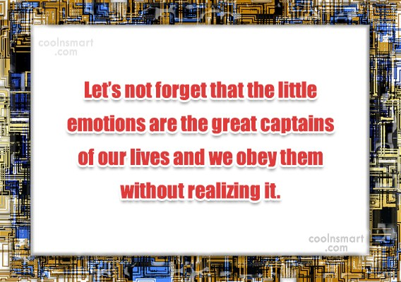 Quote: Let's not forget that the little emotions...