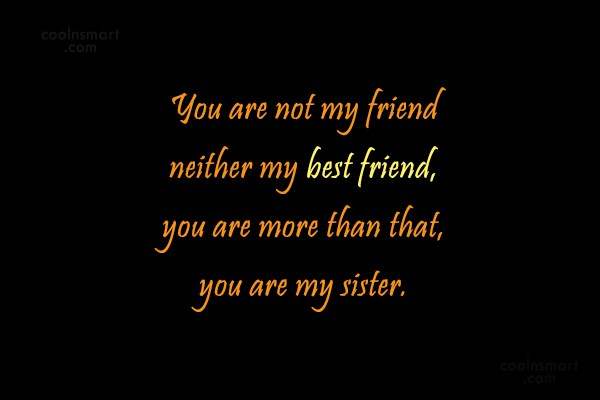 Quote: You are not my friend neither my...
