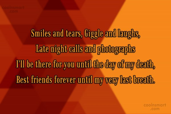 Quote: Smiles and tears, Giggle and laughs, Late...