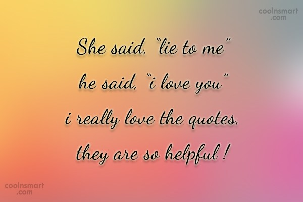 To me quotes lie Top 58