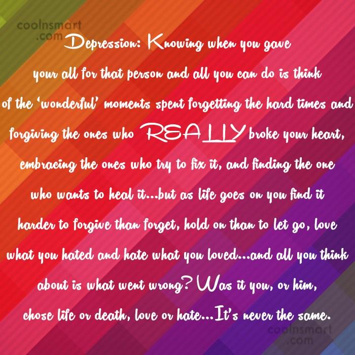 Amazing Depressing Break Up Quotes Images - Valentine Gift Ideas ...