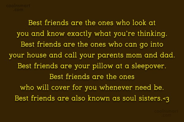 Quote: Best friends are the ones who look...