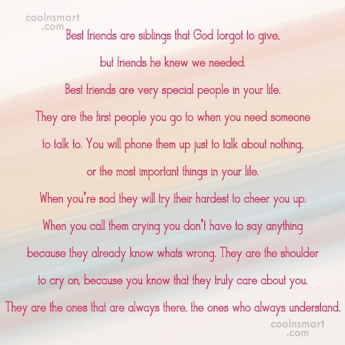 Best Friend Quotes, Sayings for BFFs - Images, Pictures - Page 34 ...