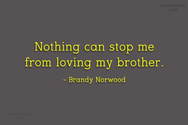 Brother Quote: Nothing can stop me from loving my...