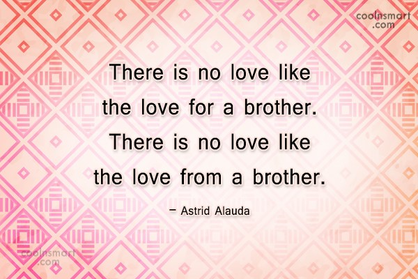 Brother Quote: There is no love like the love...