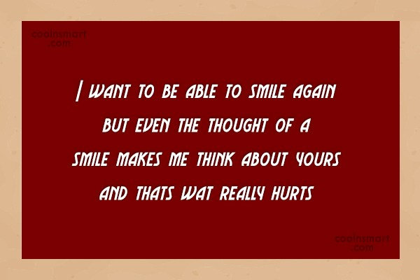 Goodbye Quote: I want to be able to smile...