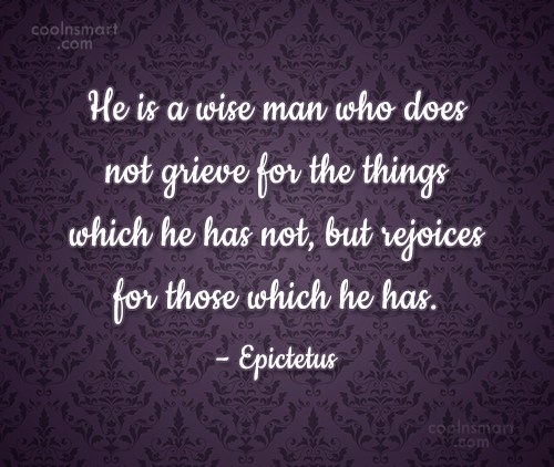 Quote: He is a wise man who does...