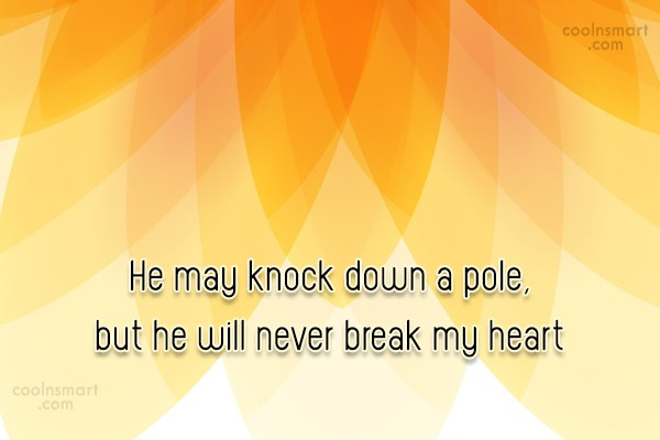 Horse Quote: He may knock down a pole, but...