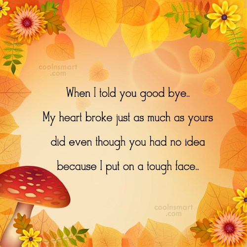 Goodbye Quote: When I told you good bye.. My...
