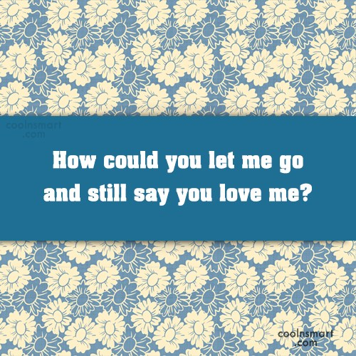 Goodbye Quote: How could you let me go and...