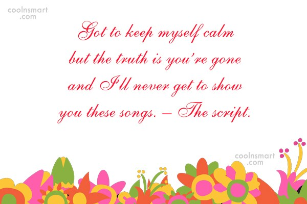 Missing You Quote: Got to keep myself calm but the...