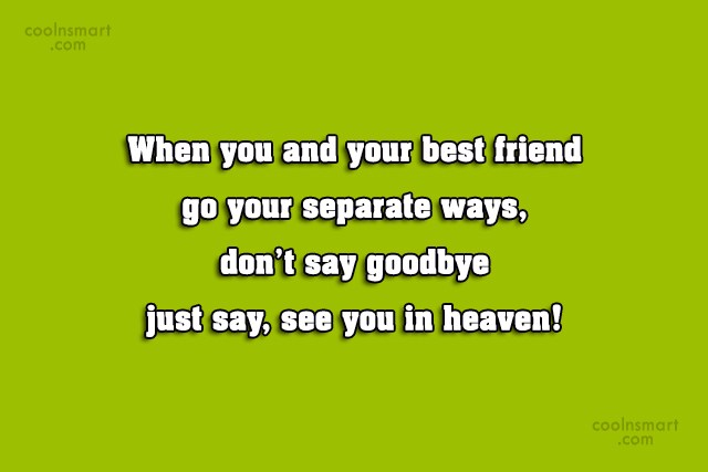 Goodbye Quote: When you and your best friend go...
