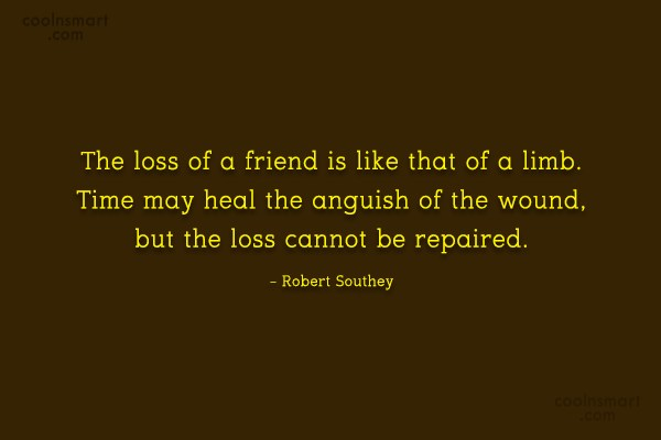 Goodbye Quote: The loss of a friend is like...