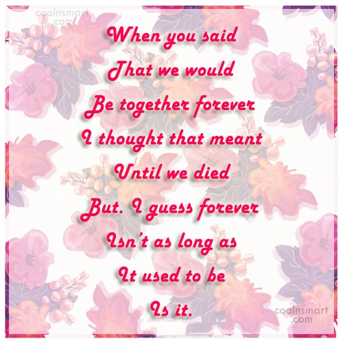 Missing You Quote: When you said That we would Be...