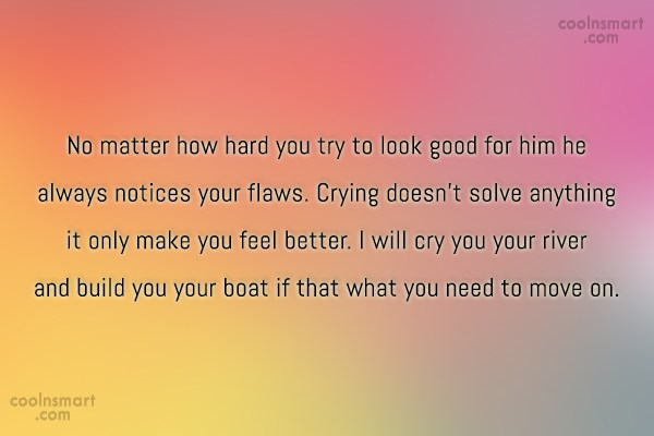 Quote: No matter how hard you try to...